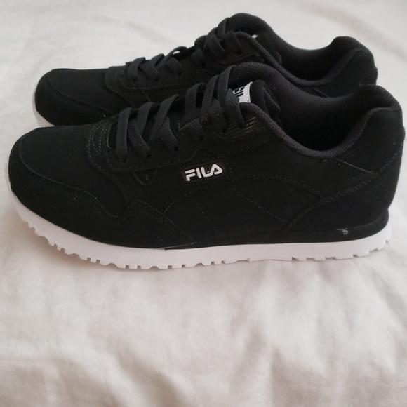 fila black suede shoes
